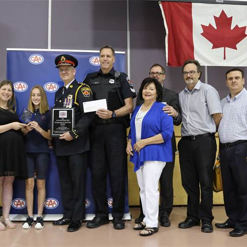 St. Bernadette student recognized provincially for bus safety
